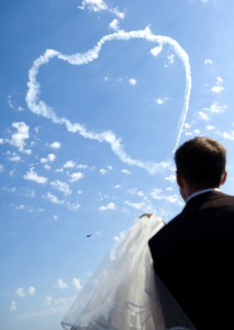 love heart in the sky for weddings