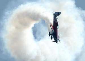 Aerobatic aircraft in a tumble flown by Mark jefferies